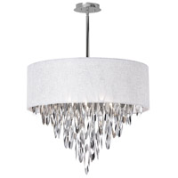 Dainolite Allegro 8 Light Chandelier in Polished Chrome ALL-258C-PC-WH
