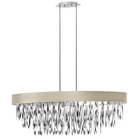 Dainolite Allegro 8 Light Chandelier in Polished Chrome ALL-438C-PC-PEB