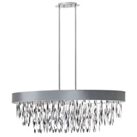 Dainolite Allegro 8 Light Chandelier in Polished Chrome ALL-438C-PC-SV