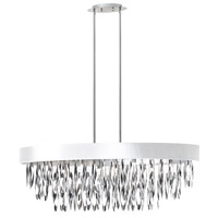 Dainolite Allegro 8 Light Chandelier in Polished Chrome ALL-438C-PC-WH