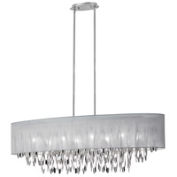 Dainolite Allegro 8 Light Chandelier in Polished Chrome ALL-448C-PC-GRY