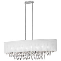 Dainolite Allegro 8 Light Chandelier in Polished Chrome ALL-448C-PC-WH