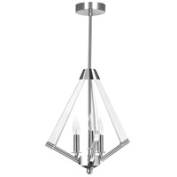Aalto 3 Light 20 inch Polished Chrome and Clear Pendant Ceiling Light