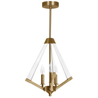 Aalto 3 Light 20 inch Vintage Bronze and Clear Pendant Ceiling Light