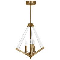 Dainolite ALT-133C-VB Aalto 3 Light 20 inch Vintage Bronze and Clear Pendant Ceiling Light