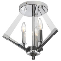 Signature 3 Light 15 inch Polished Chrome Flush Mount Ceiling Light