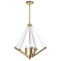 Aalto 5 Light 20 inch Vintage Brandze Pendant Ceiling Light
