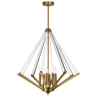 Aalto 8 Light 27 inch Vintage Brandze Pendant Ceiling Light