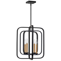 Dainolite AMB-174P-BK-VB Amberly LED 17 inch Black and Vintage Bronze Pendant Ceiling Light