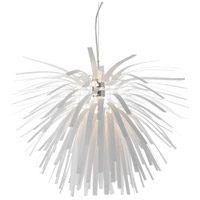Dainolite Artis 1 Light Pendant in Chrome with White Shade AR28-321P-WH