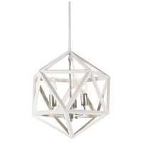 Archello 3 Light 13 inch Matte White and Satin Chrome Chandelier Ceiling Light