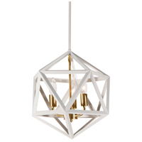 Archello 3 Light 13 inch Matte White and Vintage Bronze Chandelier Ceiling Light