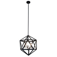 Archello 5 Light 18 inch Matte Black with Satin Chrome Chandelier Ceiling Light