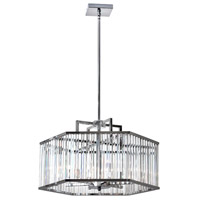 Aruba 6 Light 26 inch Polished Chrome Chandelier Ceiling Light