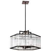 Dainolite ARU-216C-VOB Aruba 6 Light 22 inch Vintage Oiled Brushed Bronze Chandelier Ceiling Light