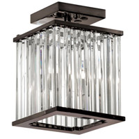 Dainolite Aruba 2 Light Flush Mount in Vintage Oiled Brushed Bronze with Optical Crystals ARU-82FH-VOB