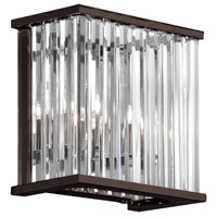 Dainolite Aruba 2 Light Wall Lamp in Vintage Oiled Brushed Bronze with Optical Crystals ARU-82W-VOB