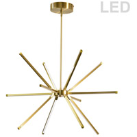 Dainolite ARY-2032LEDC-AGB Array LED 22 inch Aged Brass Chandelier Ceiling Light