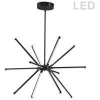 Dainolite ARY-2032LEDC-MB Array LED 22 inch Matte Black Chandelier Ceiling Light