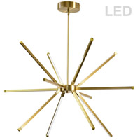 Dainolite ARY-3260LEDC-AGB Array LED 32 inch Aged Brass Chandelier Ceiling Light