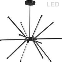 Dainolite ARY-3260LEDC-MB Array LED 32 inch Matte Black Chandelier Ceiling Light