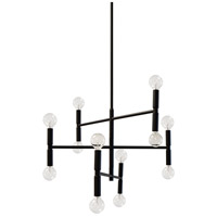 Dainolite AVA-2012C-MB Ava 12 Light 21 inch Matte Black Chandelier Ceiling Light