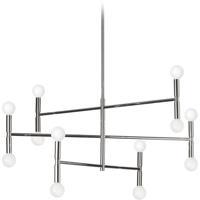 Dainolite AVA-3012C-PC Ava LED 31 inch Polished Chrome/Satin Chrome Chandelier Ceiling Light