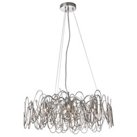 Dainolite Axis 6 Light Chandelier in Burnished Chrome AXI-246C-BC