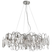 Dainolite Axis 8 Light Chandelier in Burnished Chrome AXI-328HC-BC