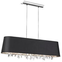 Dainolite Lighting Baroness 4 Light Chandelier in Polished Chrome  BAR3410-694-PC
