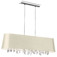 Dainolite Lighting Baroness 4 Light Chandelier in Polished Chrome  BAR3410-695-PC
