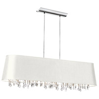 Dainolite Lighting Baroness 5 Light Chandelier in Polished Chrome  BAR4410-693-PC