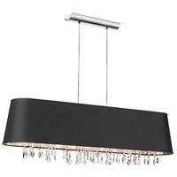 Baroness 5 Light 10 inch Polished Chrome Chandelier Ceiling Light