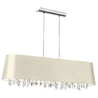 Dainolite Baroness 5 Light Chandelier in Polished Chrome BAR4410-695-PC