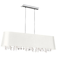 Dainolite Lighting Baroness 5 Light Chandelier in Polished Chrome  BAR4410-790-PC