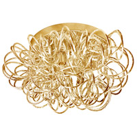 Baya 4 Light 15 inch Gold Flush Mount Ceiling Light