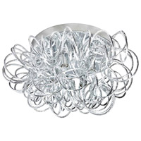 Baya 4 Light 15 inch Polished Chrome Flush Mount Ceiling Light