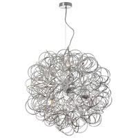 Dainolite Baya 8 Light Pendant in Satin Chrome BAY-248LP-PC