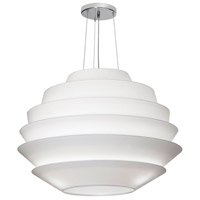 Dainolite Bermuda 9 Light Pendant in White and Polished Chrome BER-3224-PC-790