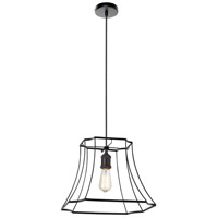 Dainolite BKO-1L-BK Belenko LED 19 inch Black Pendant Ceiling Light