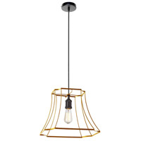 Dainolite BKO-1L-GLD Belenko LED 19 inch Gold Pendant Ceiling Light