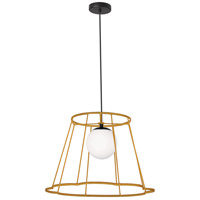Dainolite BKO-71P-GLD Balenko 1 Light 18 inch Gold Pendant Ceiling Light