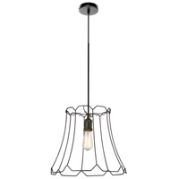 Belenko LED 16 inch Black Pendant Ceiling Light, Medium