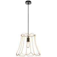 Belenko LED 16 inch Matte Black Pendant Ceiling Light, Medium