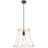 Dainolite BKO-M-GLD Belenko LED 16 inch Matte Black Pendant Ceiling Light Medium