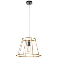 Dainolite BKO-S-GLD Belenko LED 16 inch Matte Black Pendant Ceiling Light Small