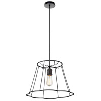 Dainolite BKO-SM-BK Belenko LED 18 inch Black Pendant Ceiling Light