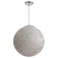 Dainolite Bolla 2 Light Pendant in Polished Chrome with Chrome Shade BLA-202P-CH
