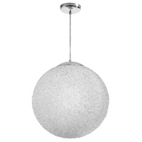 Dainolite Bolla 2 Light Pendant in Polished Chrome with Clear Shade BLA-202P-CLR