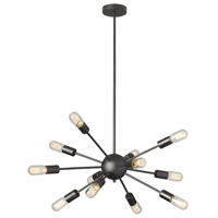 Dainolite Bristol 12 Light Chandelier in Matte Black BRI-1217C-MB